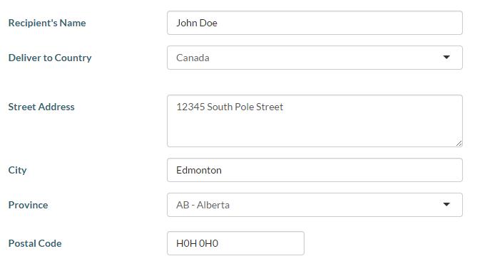 myPass - Entering a Document Order Item Address [PASI